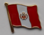 Peru Country Flag Enamel Pin Badge